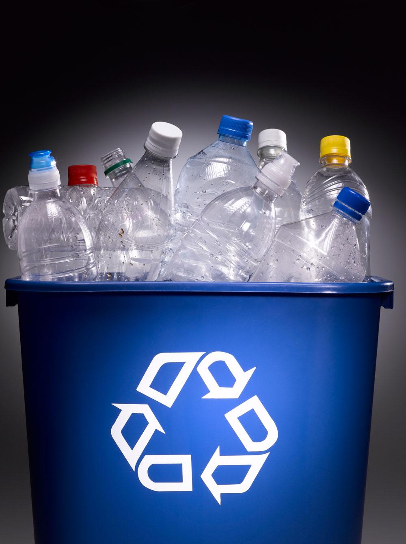 plastic bag or bottle