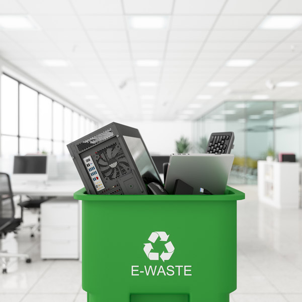 Garbage bins for computer disposal and recycling